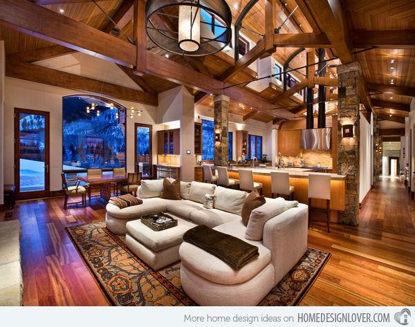 Merveilleux 15 Homey Contemporary Open Living Room Ideas