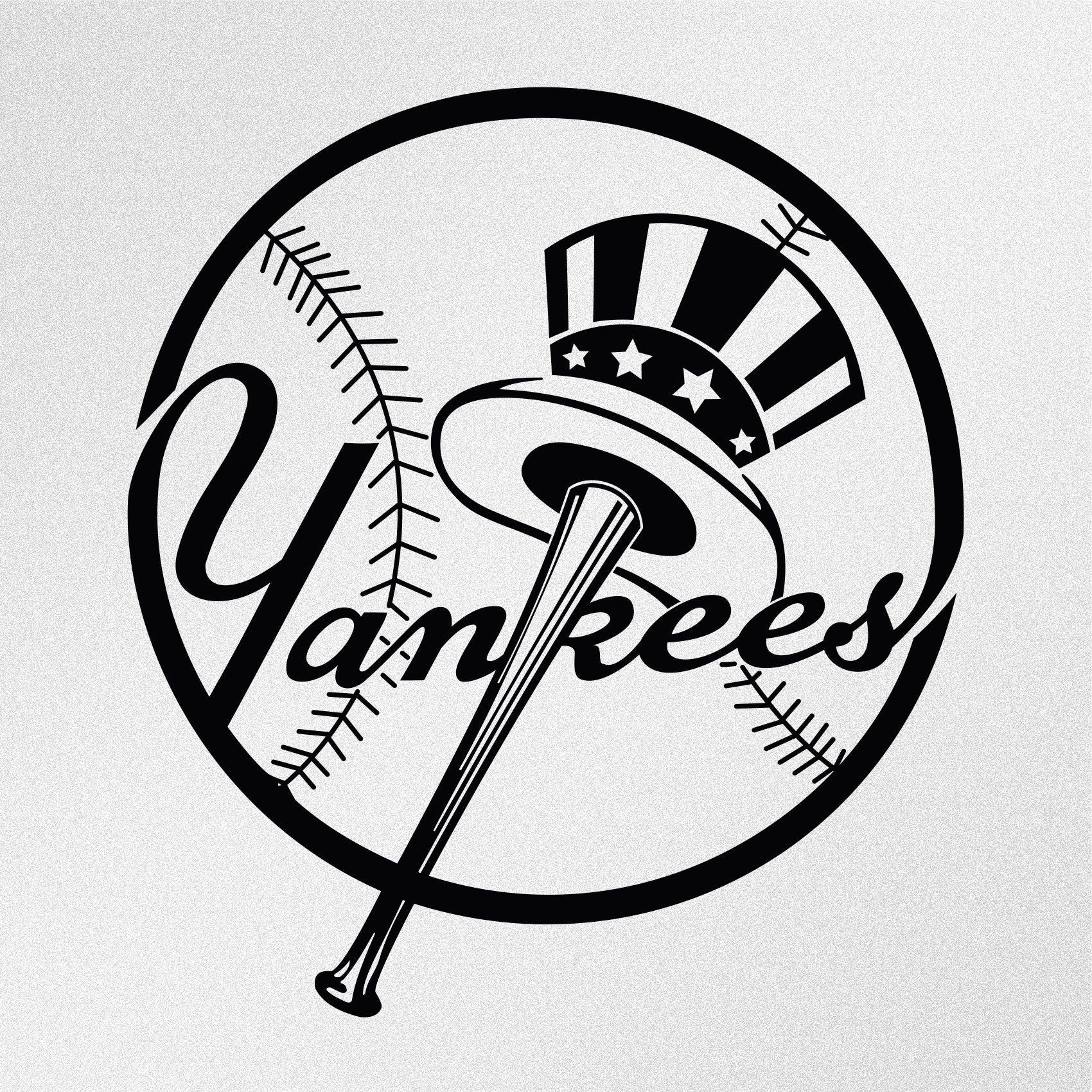 New York Yankees Logo Vinyl Decal Sticker New York Yankees Logo Yankees Logo New York Yankees