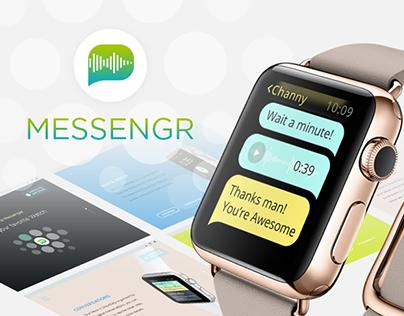 a Messenger App concept for Apple Watch. Apple watch