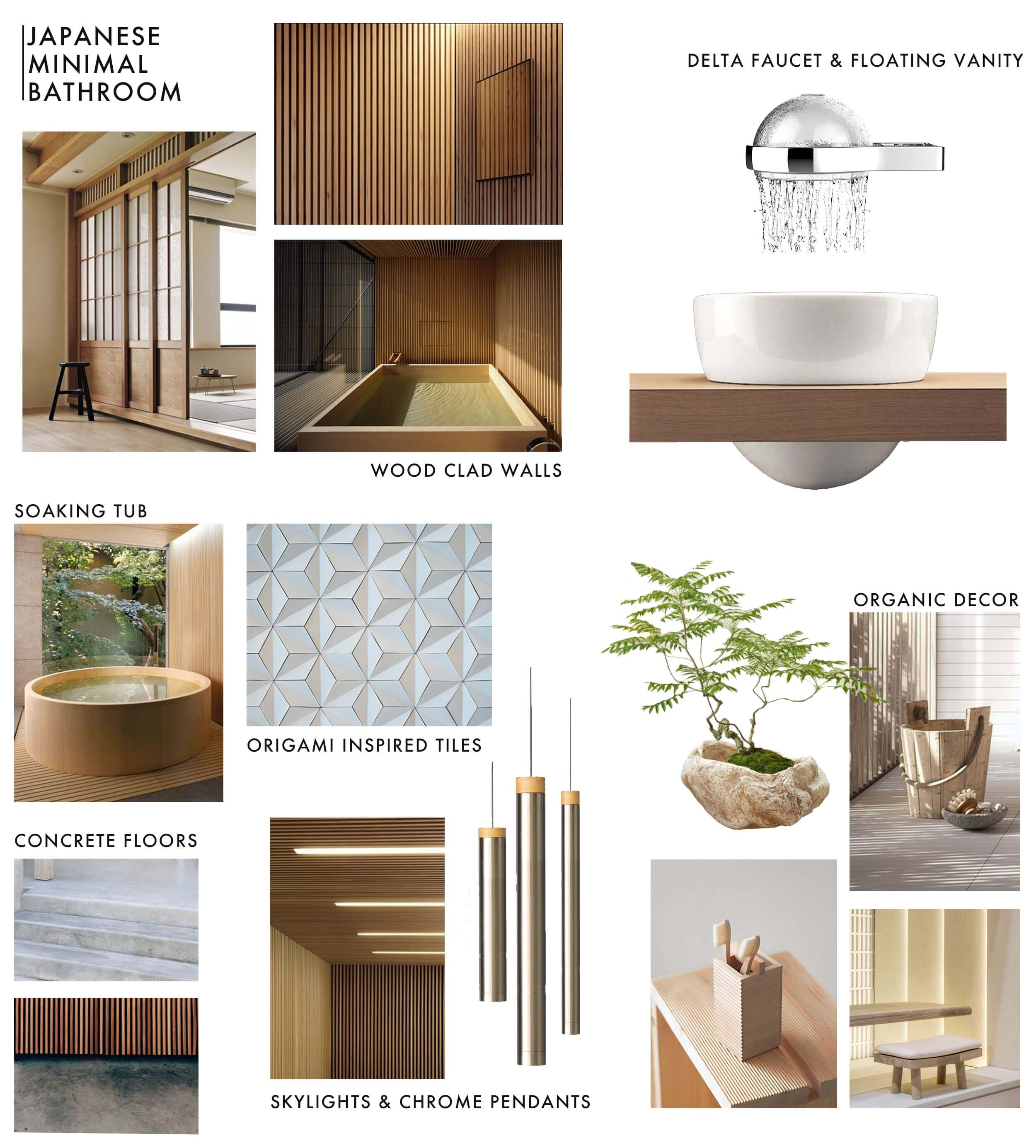 Japanese Minimal Bathrooom Delta Faucet Moodboard | Home Again ...