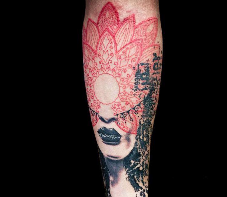 9bbc14052 Woman Face tattoo by Paul Talbot | Woman Tattoo | Tattoos, Tattoos ...