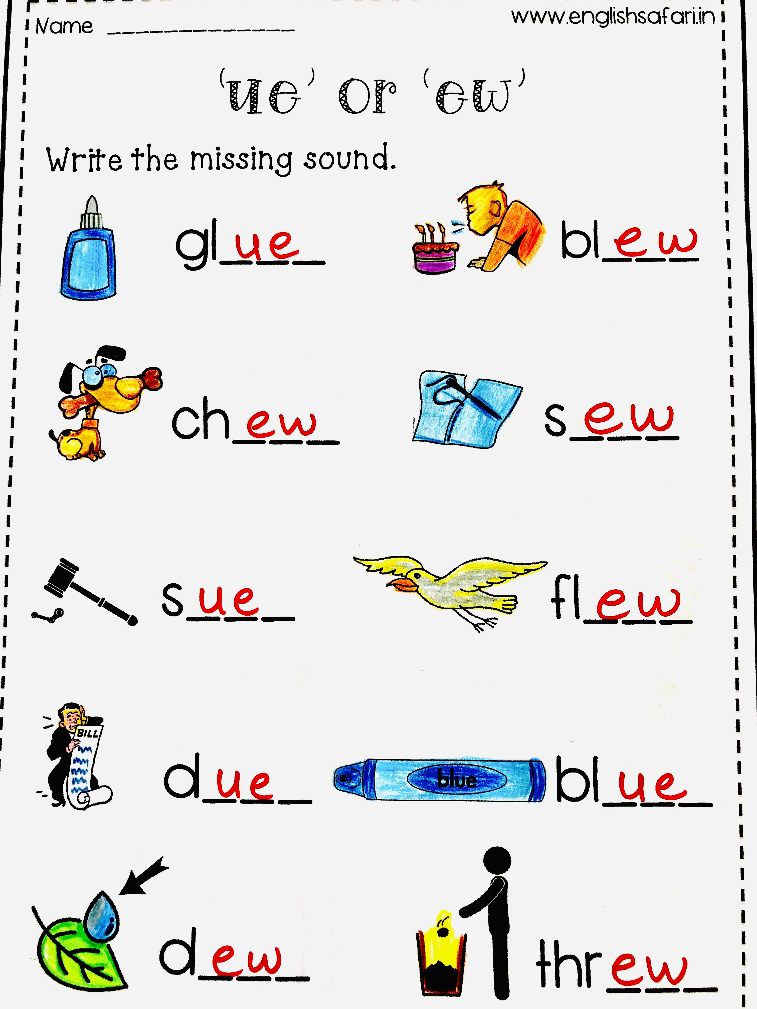 Long Vowels Worksheets Free In