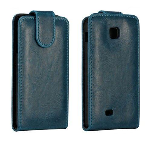 Wall Street (Tummansininen) LG Optimus F5 Nahkakotelo