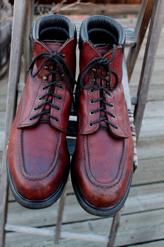 MEN'S RED WING LEATHER 202 WORK BOOTS