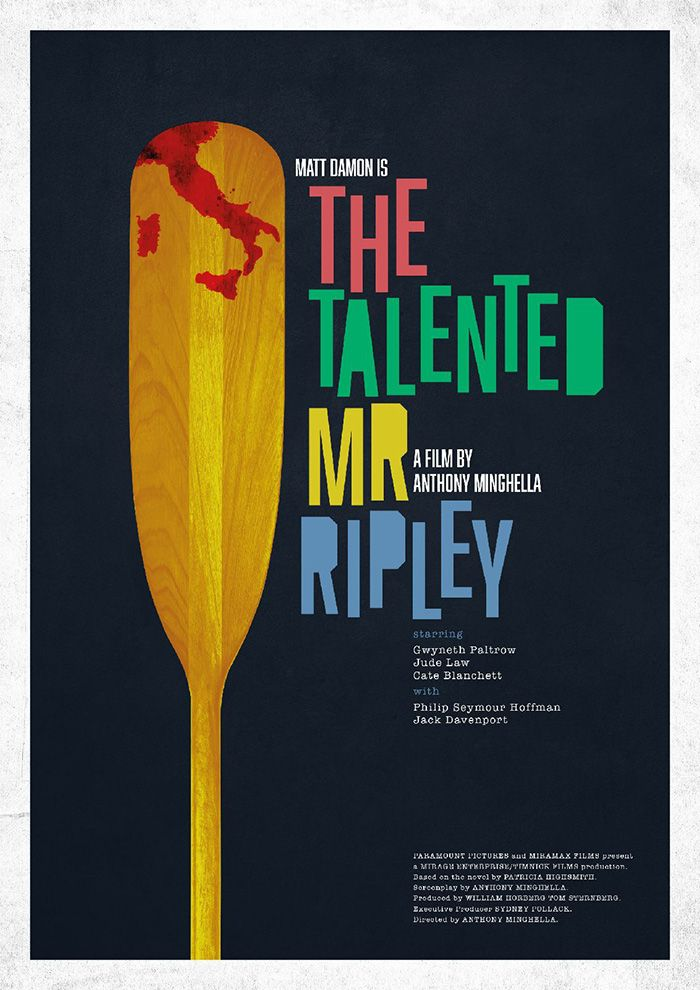The Talented Mr. Ripley by Darryl Hartley - Home of the Alternative Movie Poster -AMP-