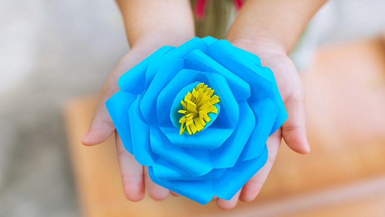 كيفية صنع وردة من الورق جميلة وسهلة