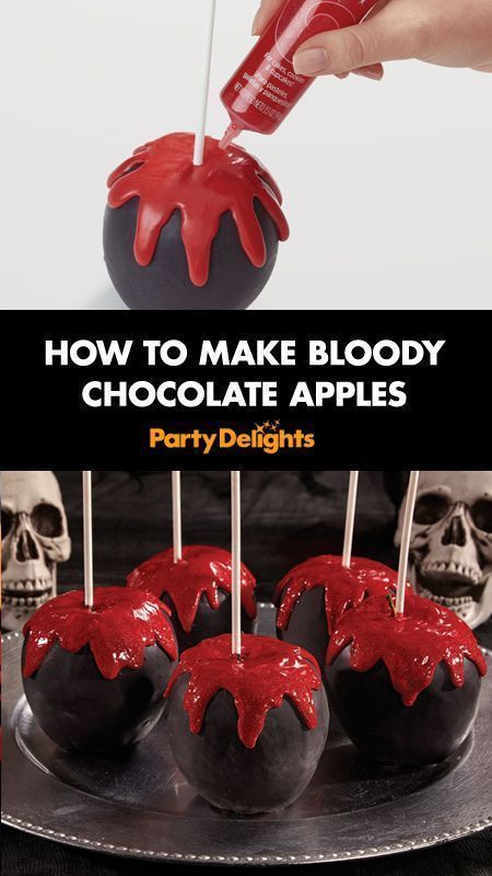 How to Make Bloody Chocolate Apples Halloween foods, Easy - cheap halloween food ideas