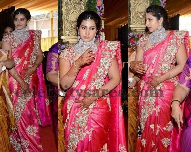Nara Brahmani Wedding Saree   Blouse   Saree wedding ...