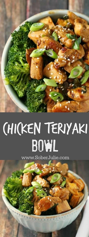 Chicken Teriyaki Bowl With Broccoli And Sweet Potato -1047