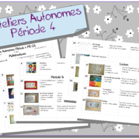 ateliers autonomes p riode 4 ms gs plan de travail pinterest montessori montessori. Black Bedroom Furniture Sets. Home Design Ideas