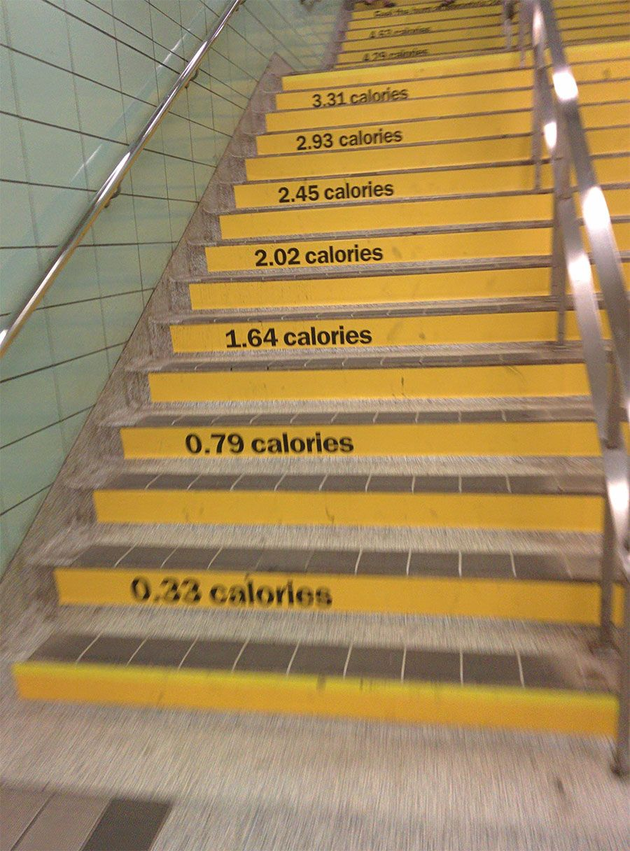 Calorie counter on stairs the miscellany pinterest - Dessous d escalier ...