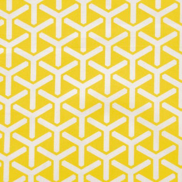 21,50 €/mBio-Canvas - geometrischer Druck auf gelb (16-015) von Das Blaue Tuch auf DaWanda.com
