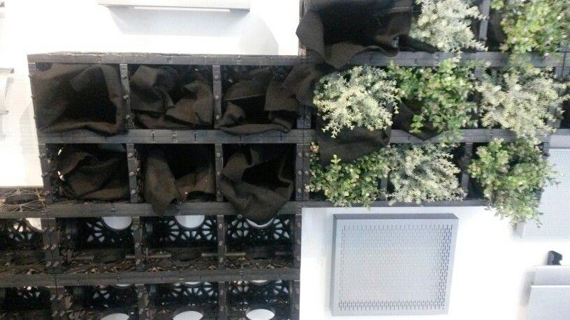 Contenedores para un jardin vertical