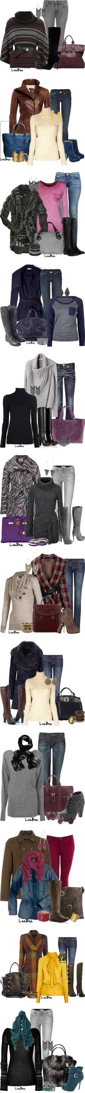 """Boots and Jeans"" by leebee11 ❤ liked on Polyvore"