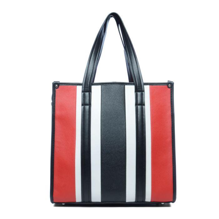 6f62416093f Dé trend van dit moment: Handtas rood/wit/zwart gestreept! Shop jouw ...