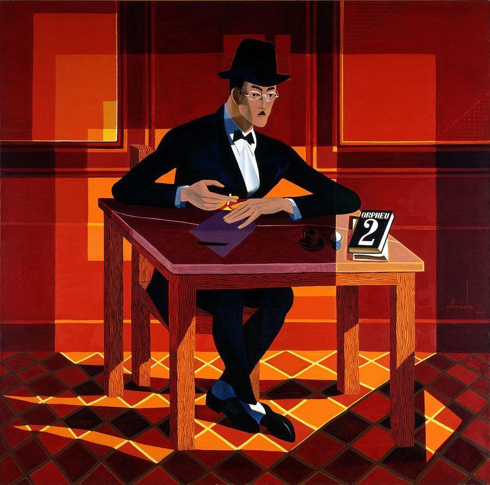 Almada Negreiros--Retrato de Fernando Pessoa
