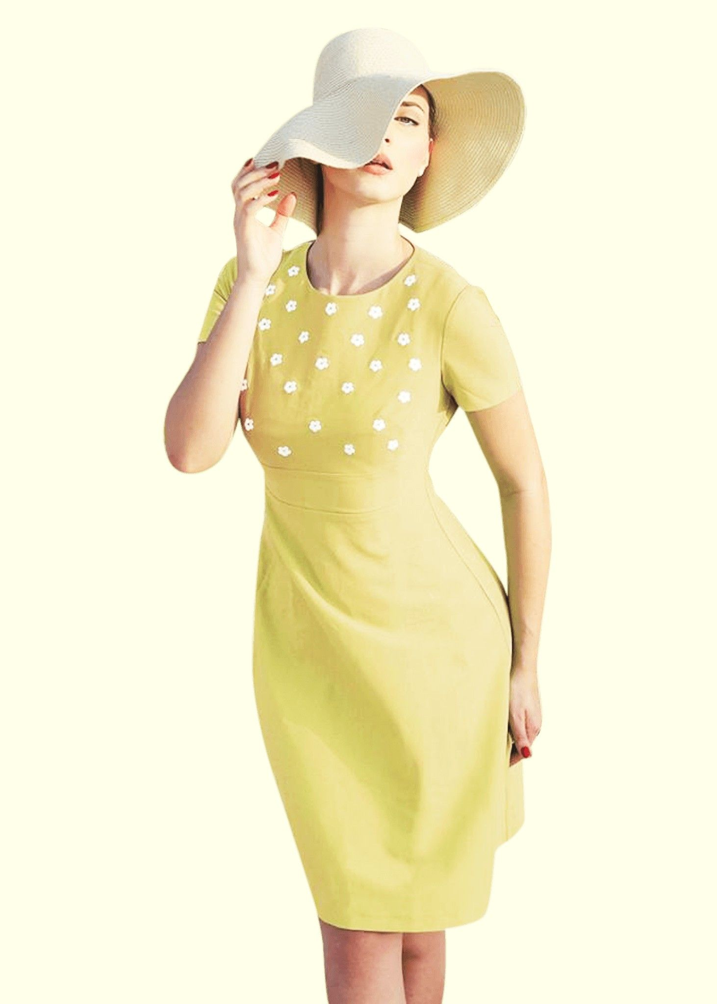 Dapper Peggy Style Gul I Lovely Daisy Fashion 60'er Kjole zHfR6qwnq