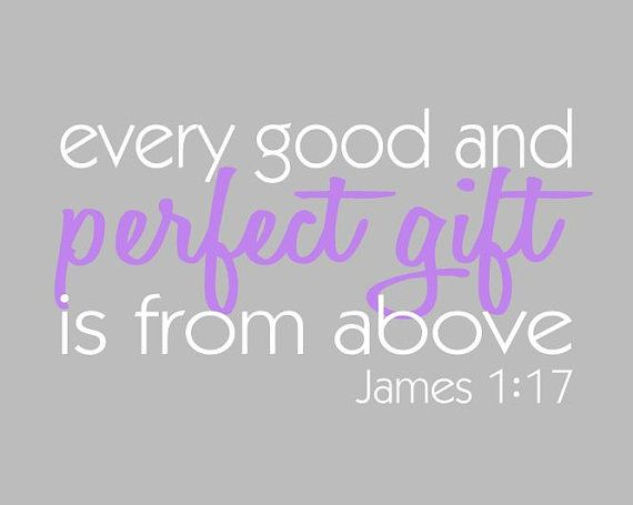 Biblical Wall Art Every Good and Perfect Gift by PaperPlanePrints