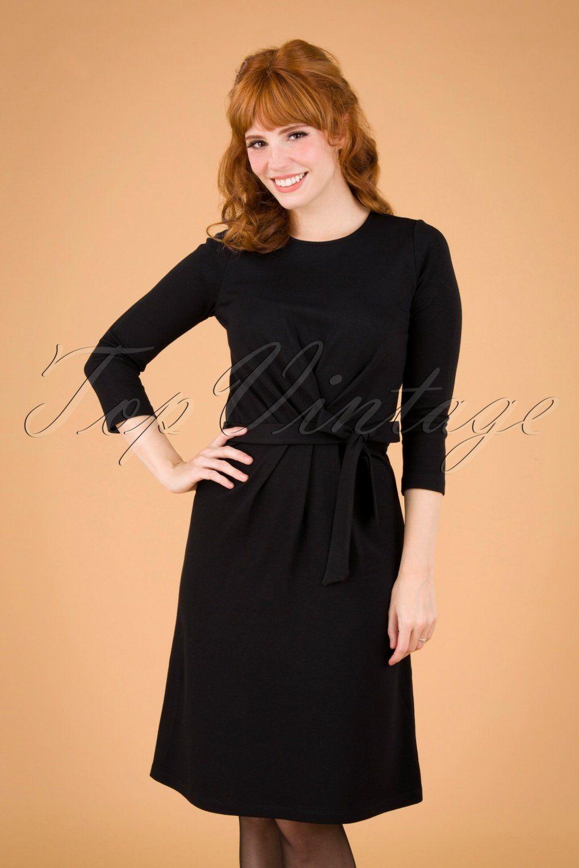 60s Hailey Milano Crepe Dress In Black Crepe Dress Dresses A Line Dress [ 1530 x 1020 Pixel ]