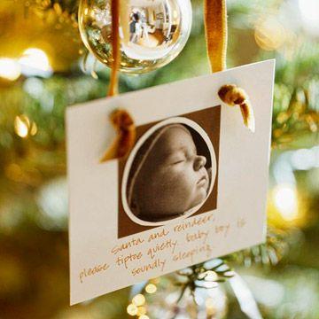 Decorando árvore de Natal com fotos!