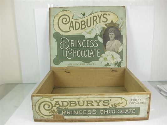 Old Shop Stuff | Old-chocolate-box-Cadburys-Princess-Chocolate-penny-per-cake for sale (14527)