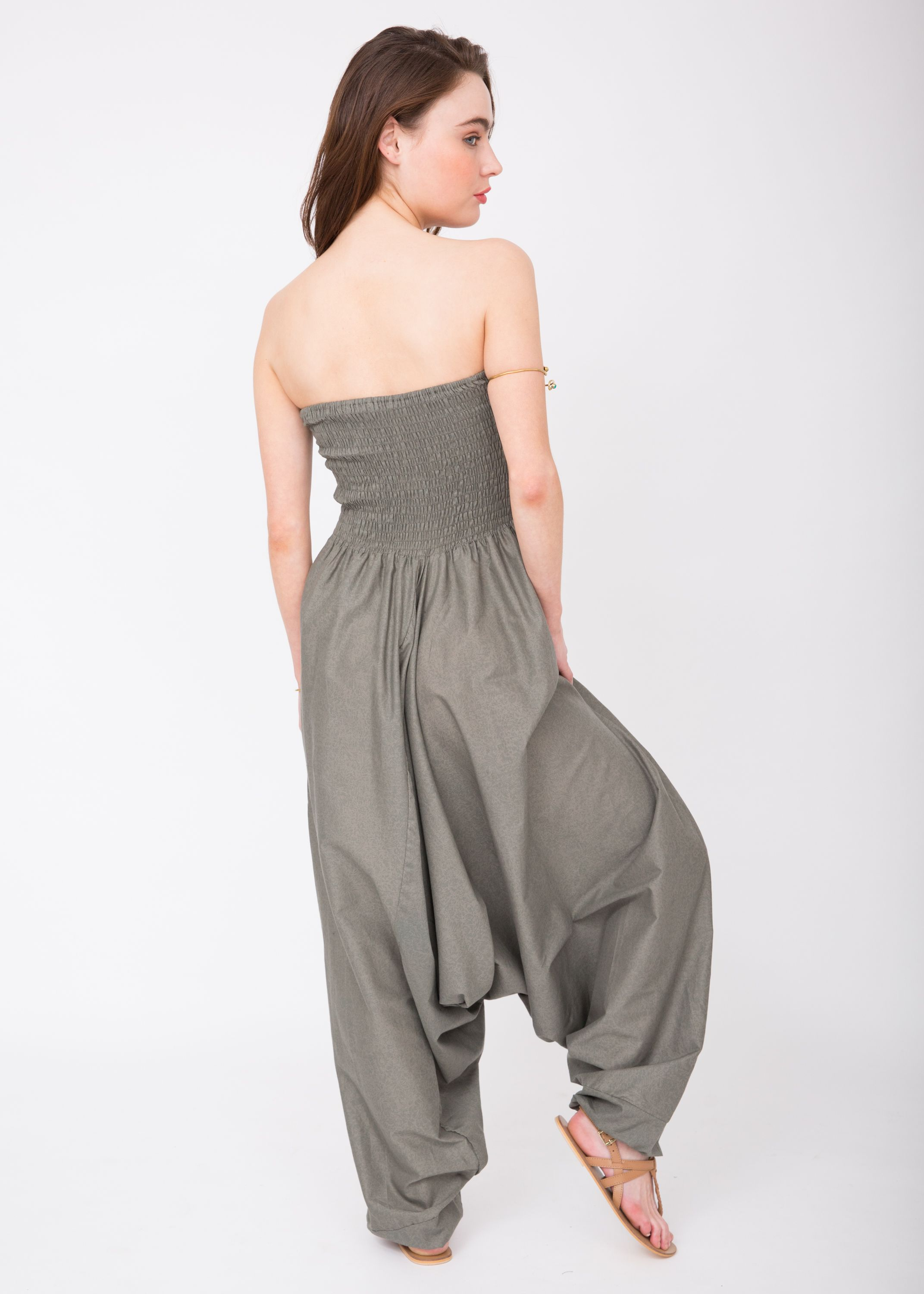 d51355c0fb Cotton Printed Maxi 2 in 1 Harem Trouser Jumpsuit Earth Print – likemary