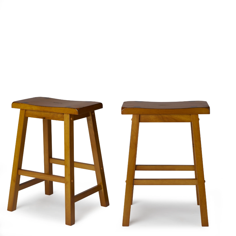 Salvador Saddle Back 24 Inch Counter Height Backless Stool Set Of 2 By Inspire Q Bold Backless Stools Stool