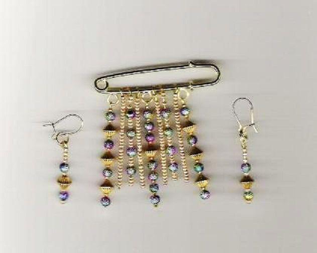 earring & pin set