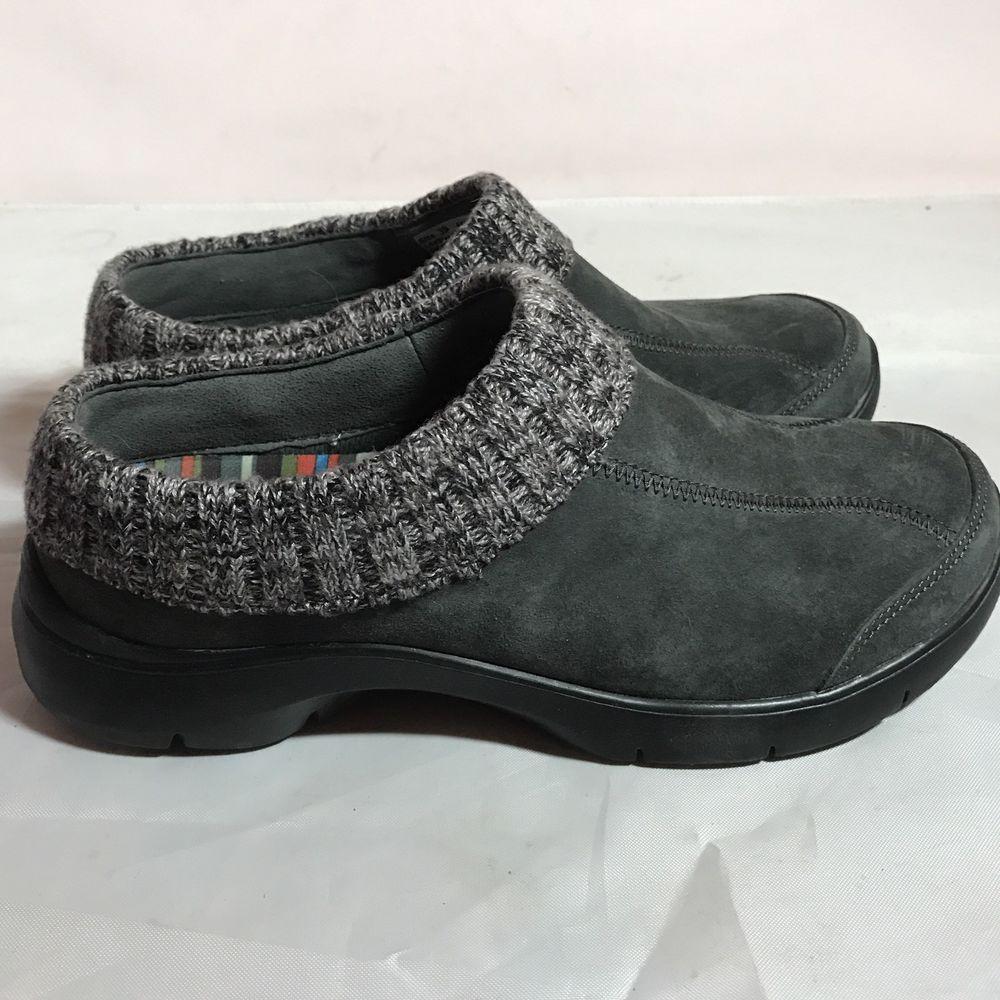 9e642c54c9c DANSKO Suede Grey Slip-On Comfort Clogs Sweater EARTHA Women s US 8.5 - 9 EU