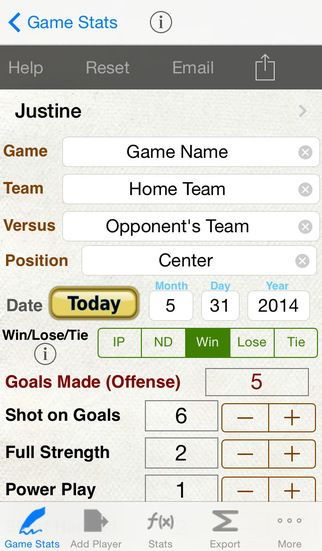 Hockey Stats + Player Tracking by Verosocial Studio iphone sports - baseball stats spreadsheet