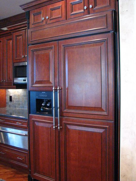 Cabinet Covered Refrigerator Cabinets Fully Flush Mounted Perfectly Matches