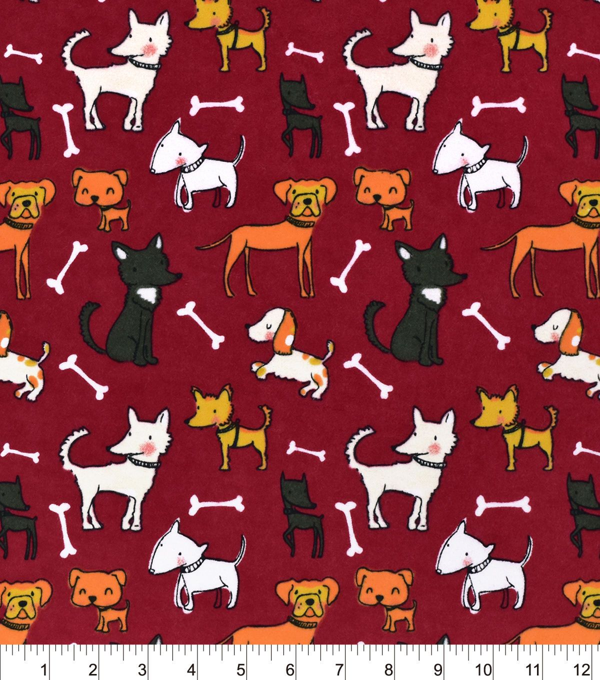 Red flannel fabric  Snuggle Flannel FabricPups And Bones Red  Flannels Fabrics and