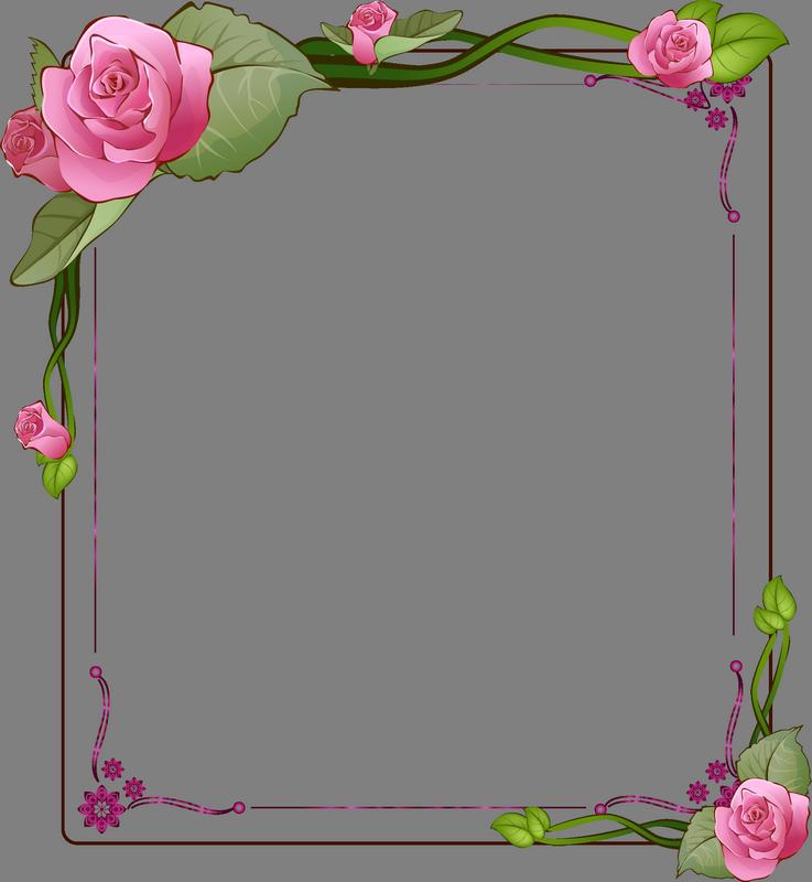 Рамки и цветы в открытки уголки, рисунки