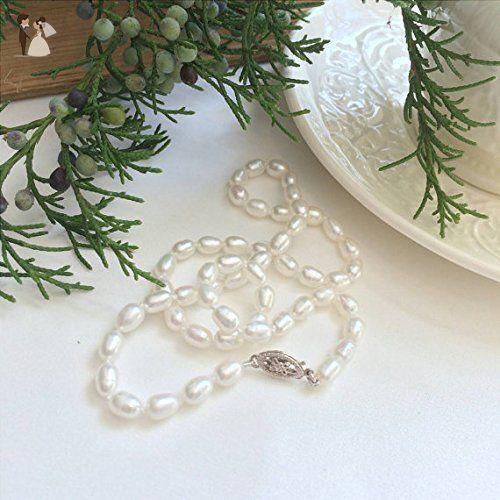Classic freshwater pearl necklace - Wedding earings (*Amazon Partner-Link)