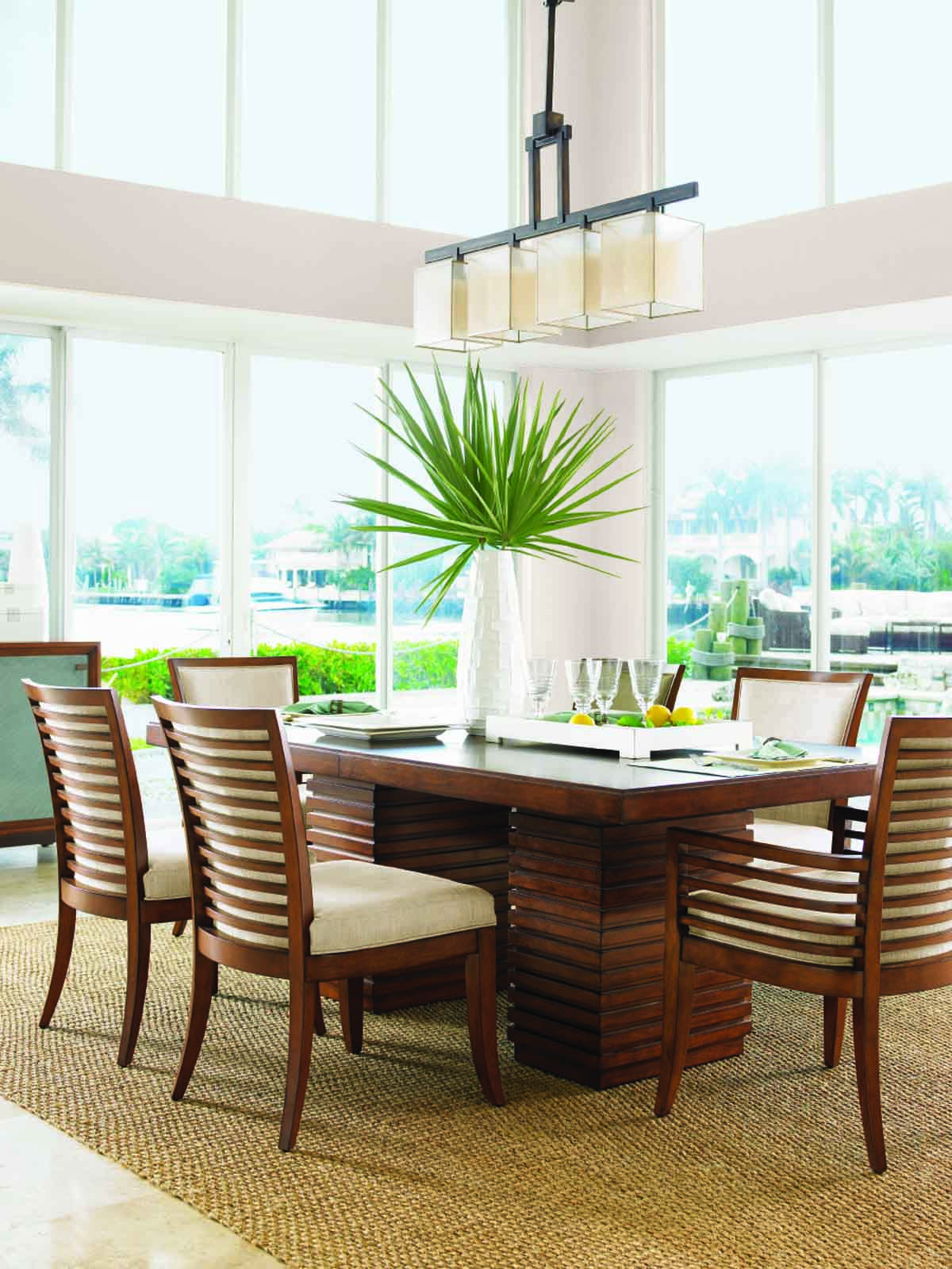 Tommy Bahama Ocean Club 7 Pc Peninsula Dining Table Set Sale Ends Mar 26 Coastal Dining Room Dining Table Design Kitchen Dining Sets