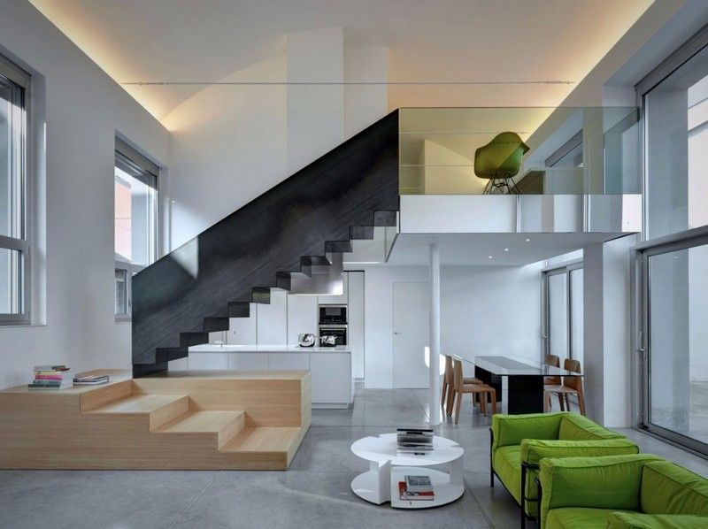 treppe in minimalistischem stil bilder, treppe im minimalistischen stil mit glasgeländern | stiege | pinterest, Design ideen