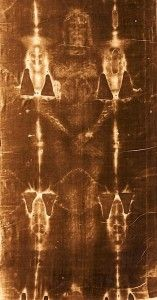 FACT Proven: The Shroud of Turin (Turin, Italy). The shroud laid over the body of Jesus. Image imprinted at time of resurrection, by 'Power' of the Spirit of God. DNA testing compared to that of the Face Cloth known to belong to Jesus, MATCH.