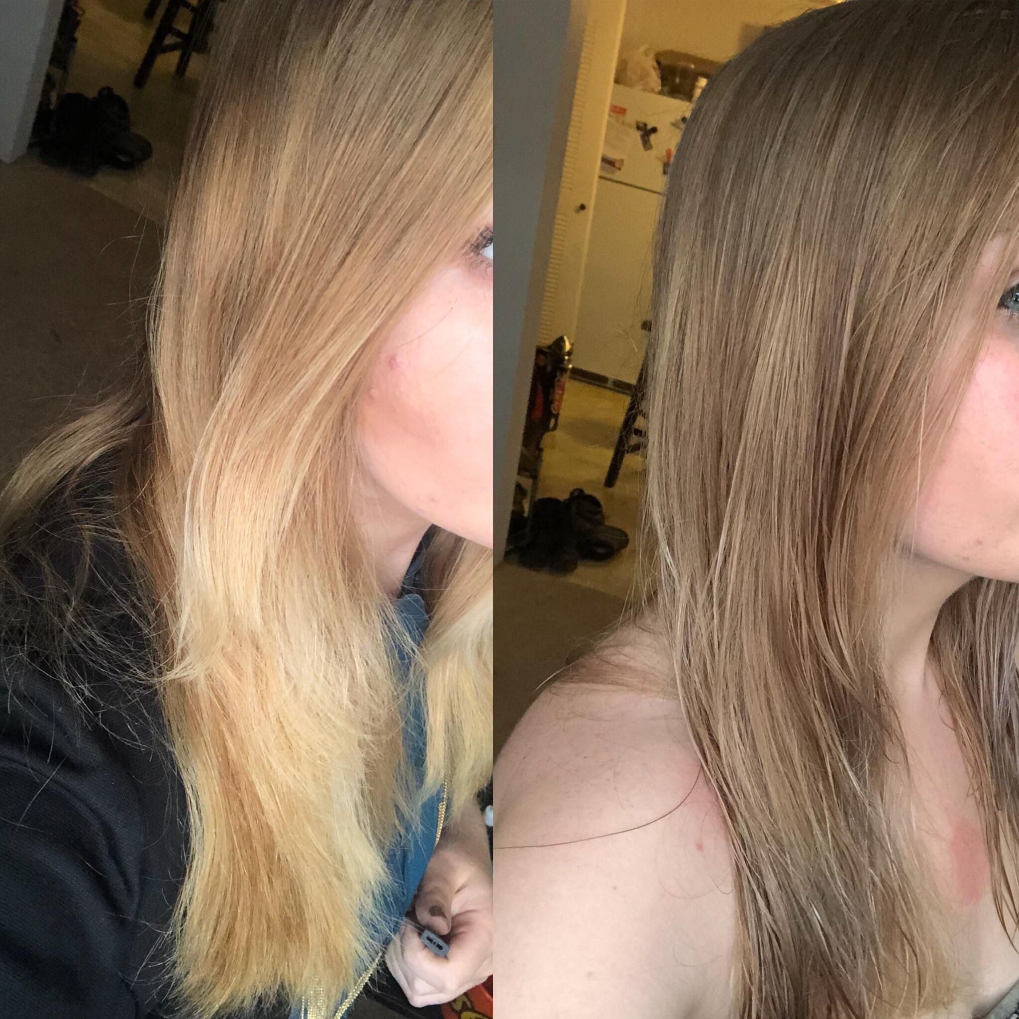 Wella T18 Toner Darkened My Hair And Now My Ombre Is Gone What Mistake Could I Have Possibly Made That Caused This To Hap Wella T18 T18 Toner Wella Toner T18