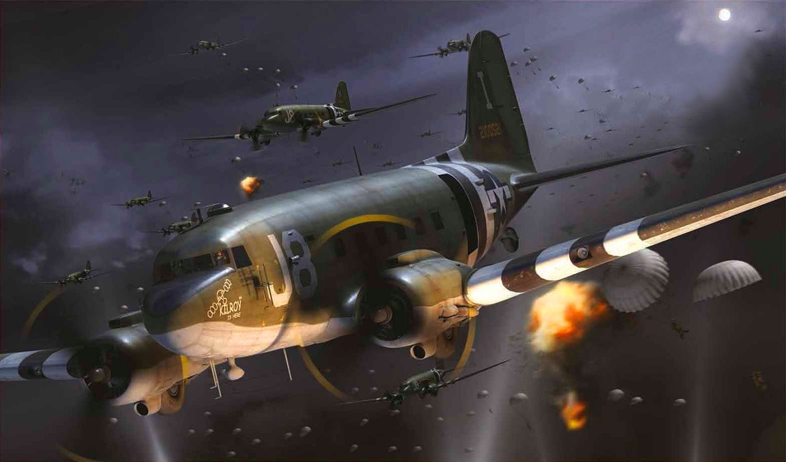 Douglas c 47 skytrain d day by adam tooby allied planes douglas c 47 skytrain d day by adam tooby fandeluxe Gallery