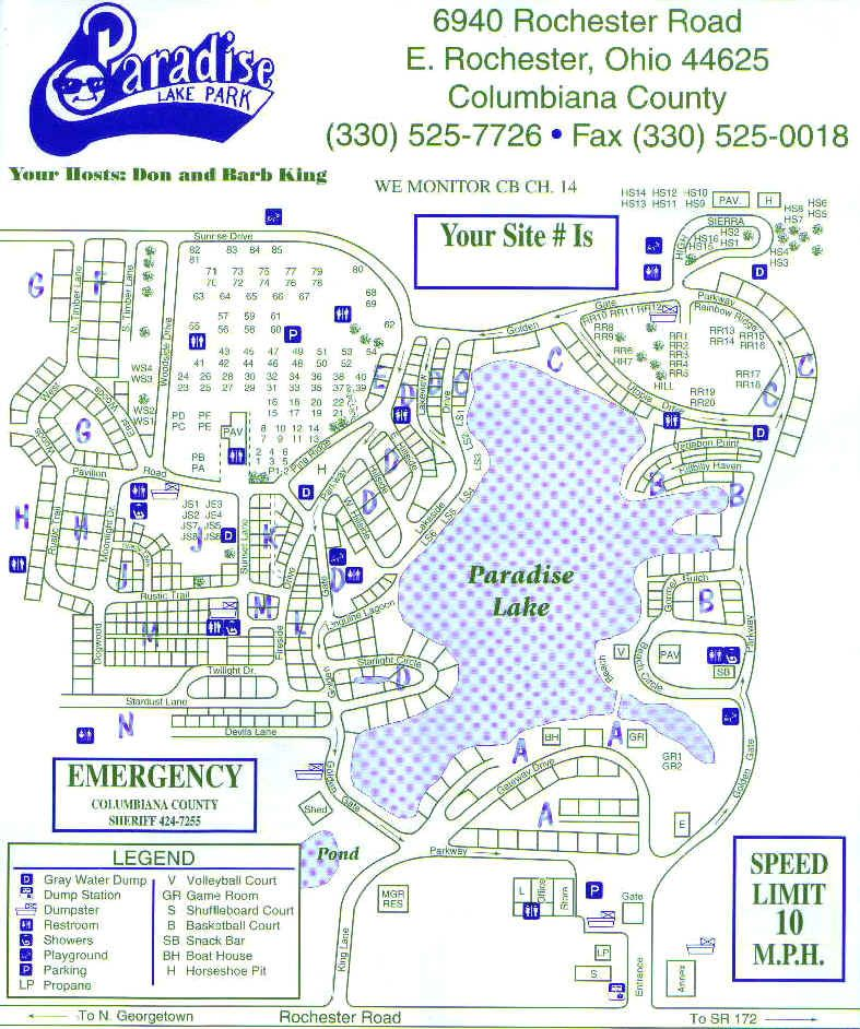 Paradise Lake Family Campground Map Google Search Camp Ground