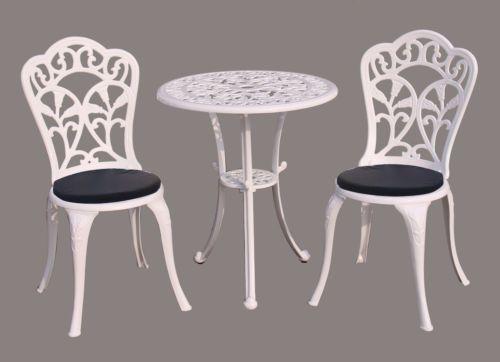 Dettagli Su Charles Bentley Furniture Cast Alluminio Bistro Set