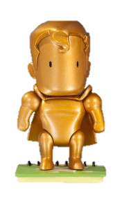 Scribblenauts Unmasked Gold Superman Mystery Chase Figure 1