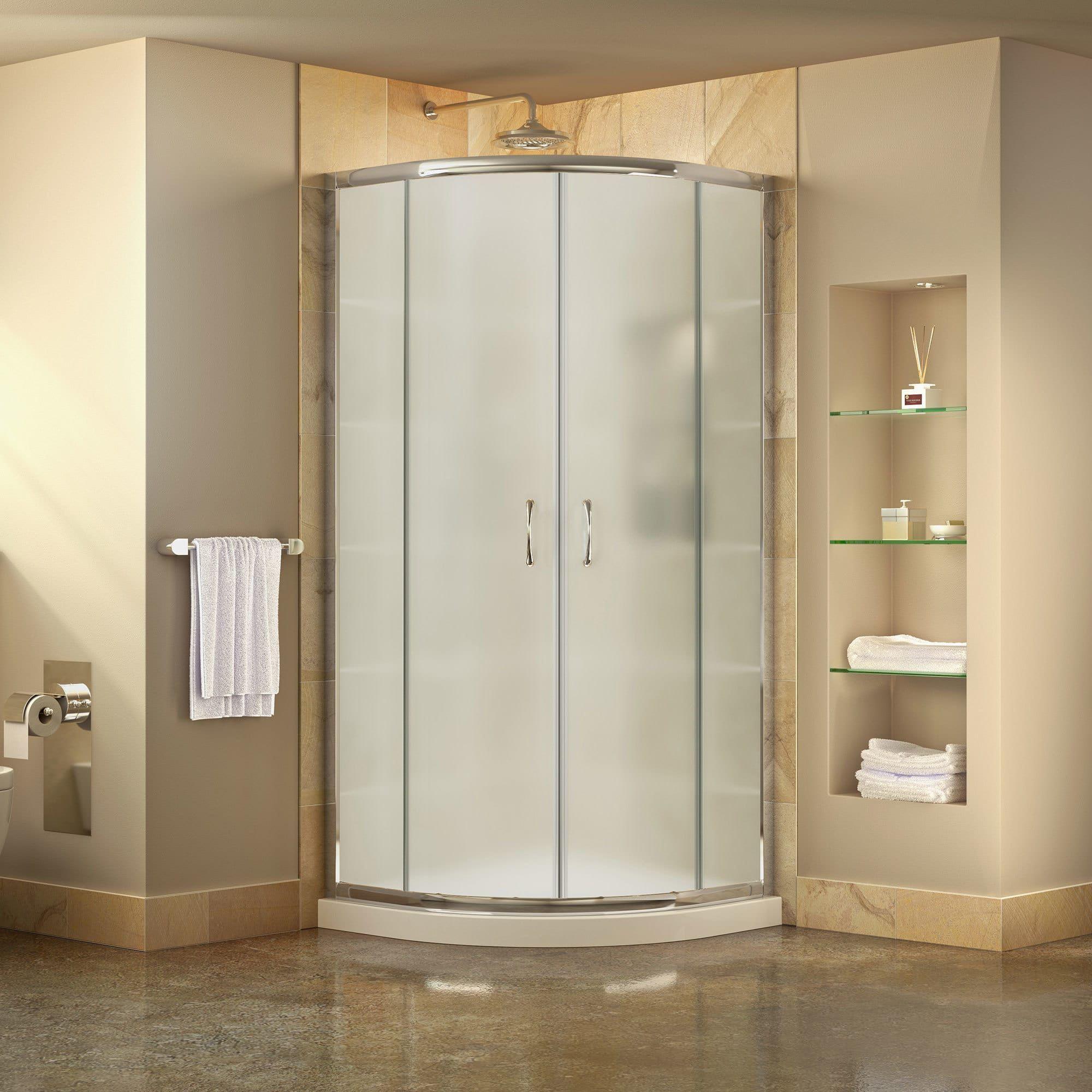 DreamLine Prime Frameless Sliding Shower Enclosure and SlimLine 36 ...