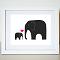 Elephant Love 8X10 Art Print/Wall Art - by jenimdesign on madeit