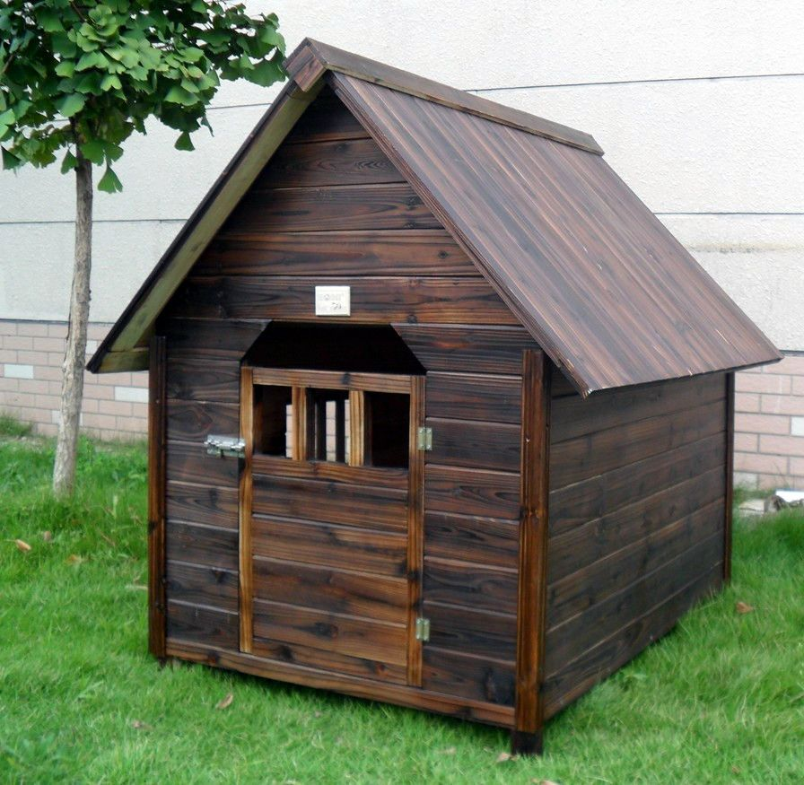 Outdoor Large Husky Water Resistant Wood Dog House Kennel8 In