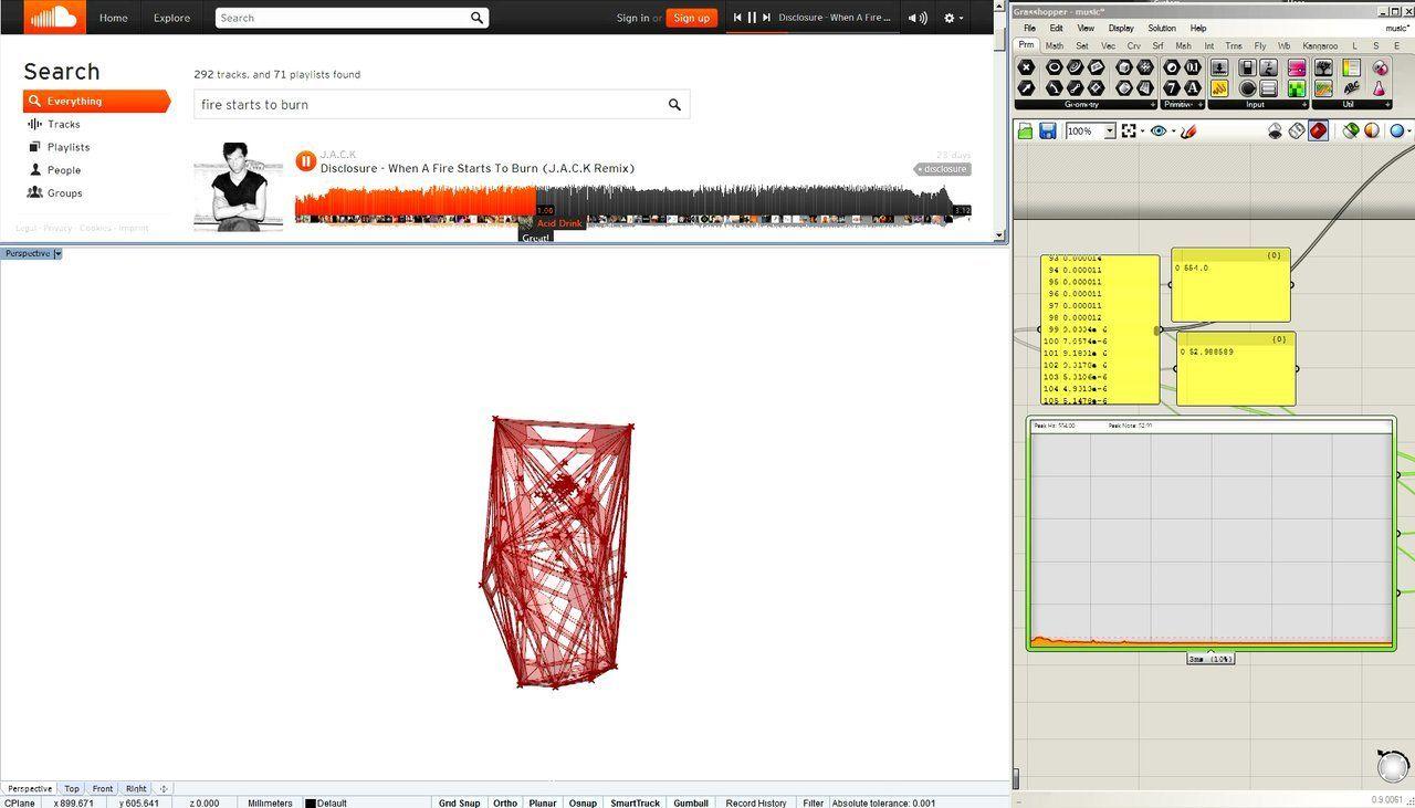 Sound Controlled Model In Grasshopper Generative Design Sound Control Generative