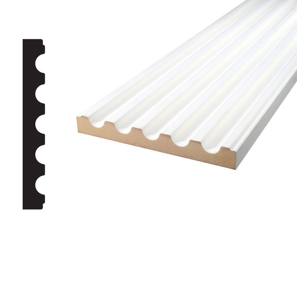 Alexandria Moulding 11 16 In X 5 1 4 96 Primed Mdf Fluted Casing 90540 96096c The Home Depot