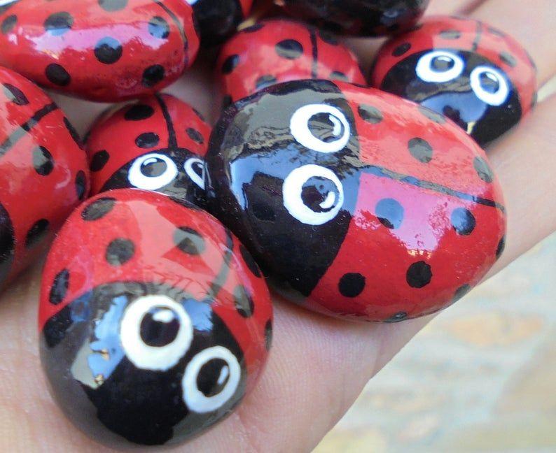 Painted Stones Ladybug