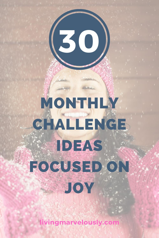 30 Monthly Challenges Monthly challenge, Challenges