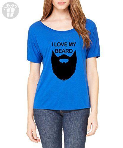 Ugo I Love My Beard Matching Couples Birthday Christmas Funny Gift w Hats Leggings Women's Slouchy T-Shirt - Birthday shirts (*Amazon Partner-Link)